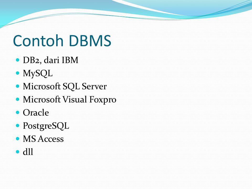 Contoh DBMS DB2, dari IBM MySQL Microsoft SQL Server