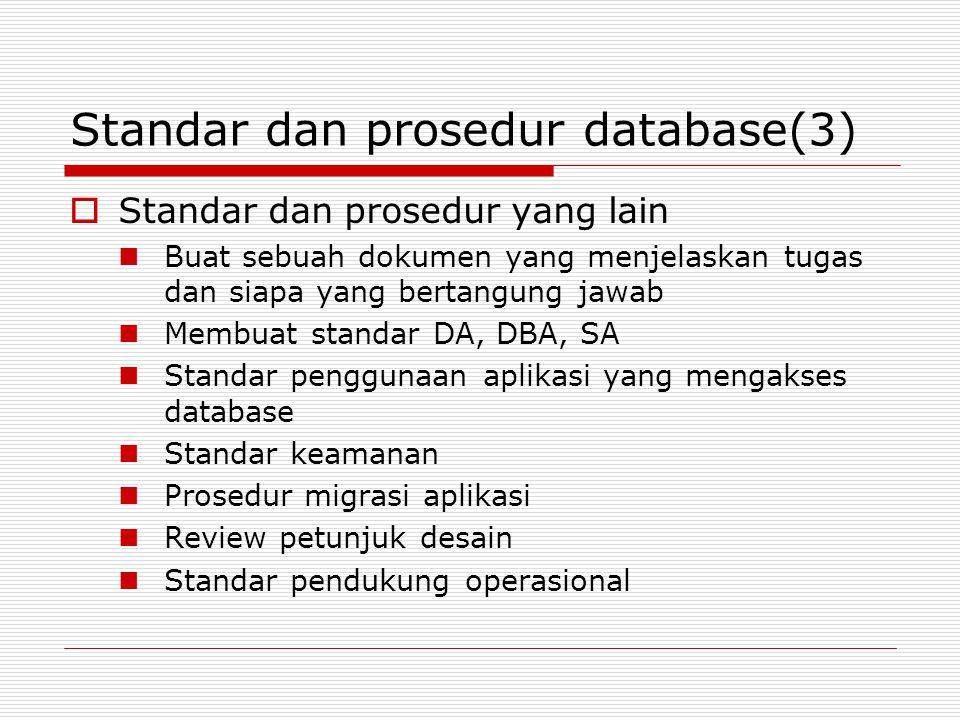 Standar dan prosedur database(3)