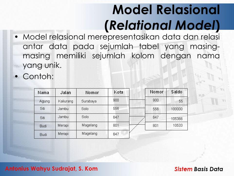 Model Relasional (Relational Model)
