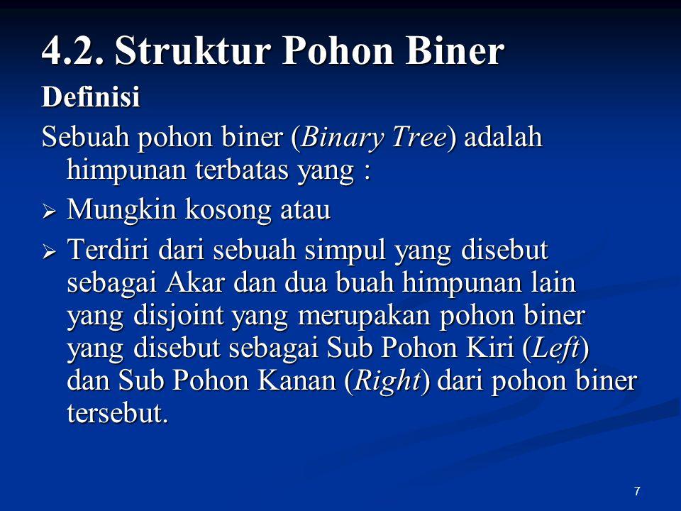 4.2. Struktur Pohon Biner Definisi