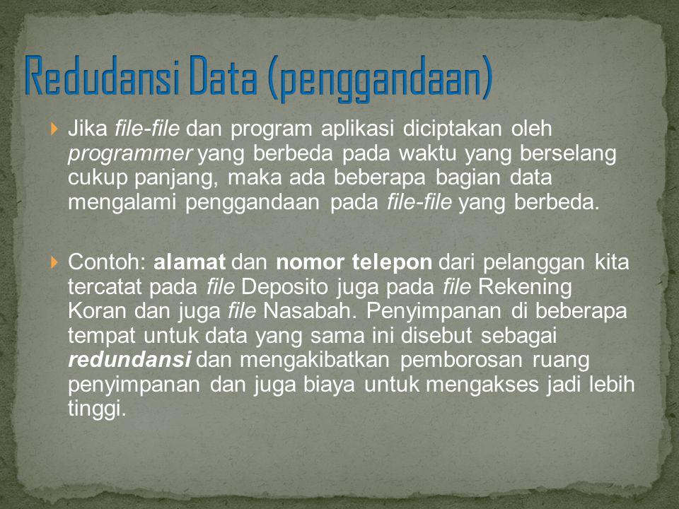 Redudansi Data (penggandaan)