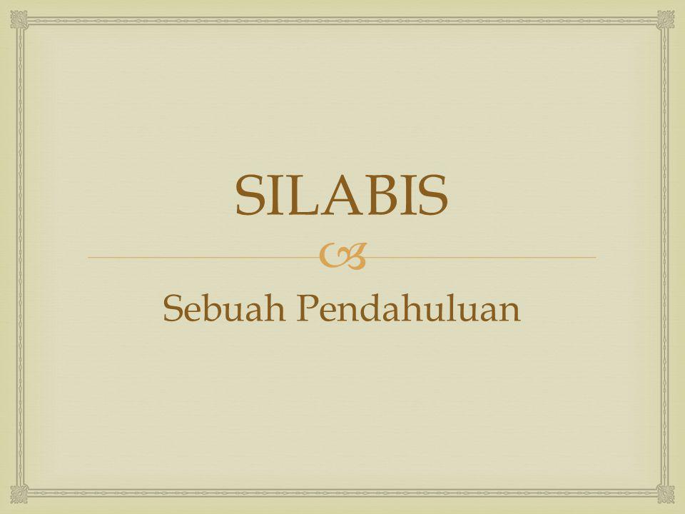 SILABIS Sebuah Pendahuluan
