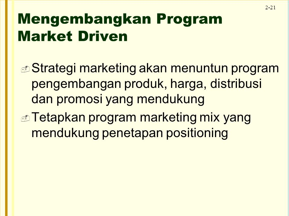 Mengembangkan Program Market Driven