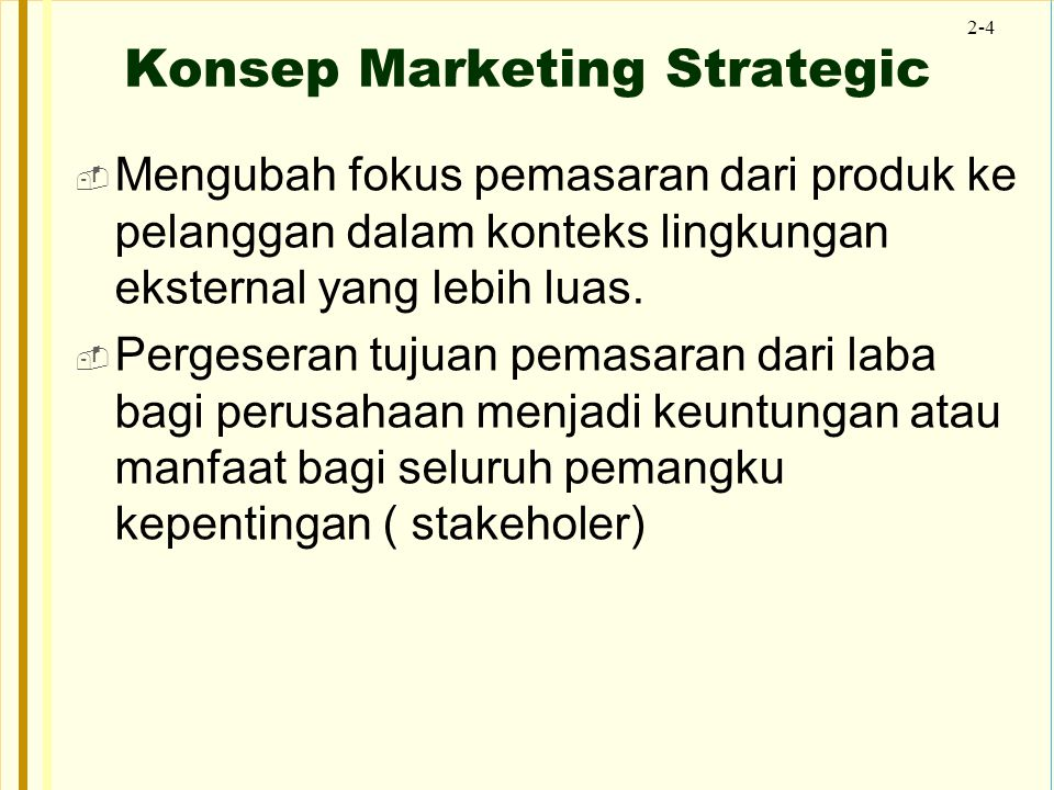 Konsep Marketing Strategic