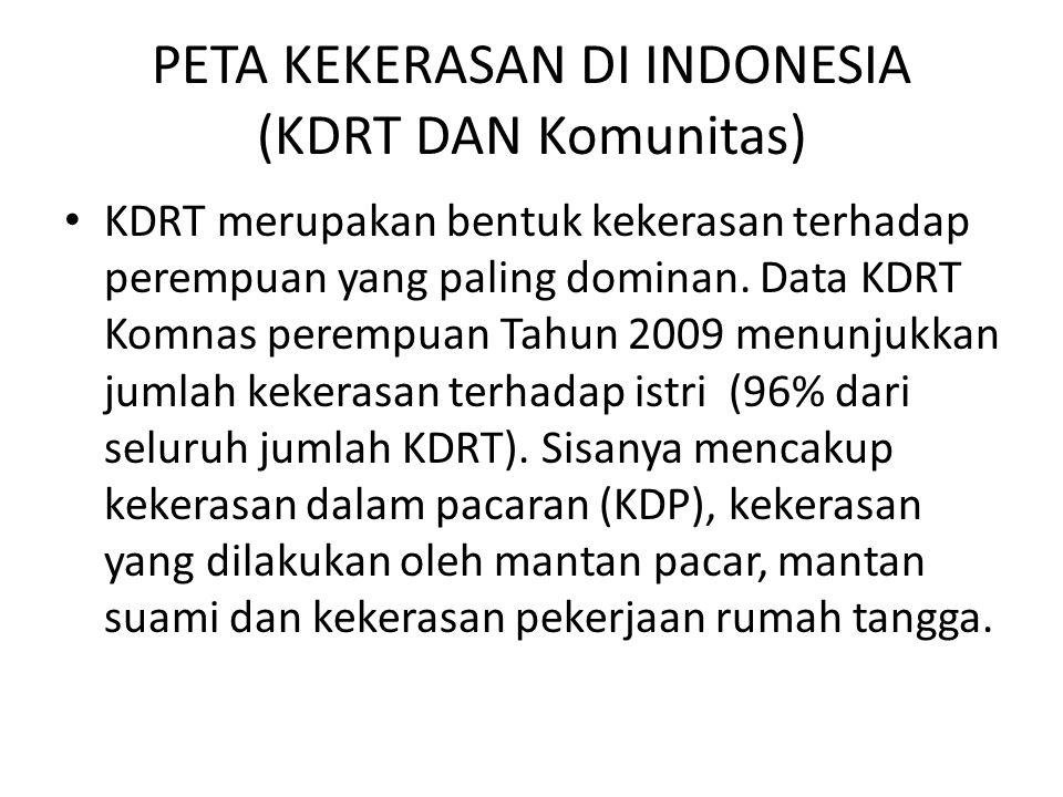 PETA KEKERASAN DI INDONESIA (KDRT DAN Komunitas)