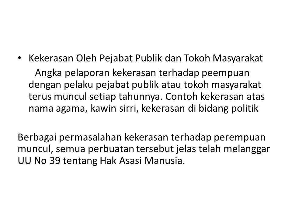 Kekerasan Oleh Pejabat Publik dan Tokoh Masyarakat