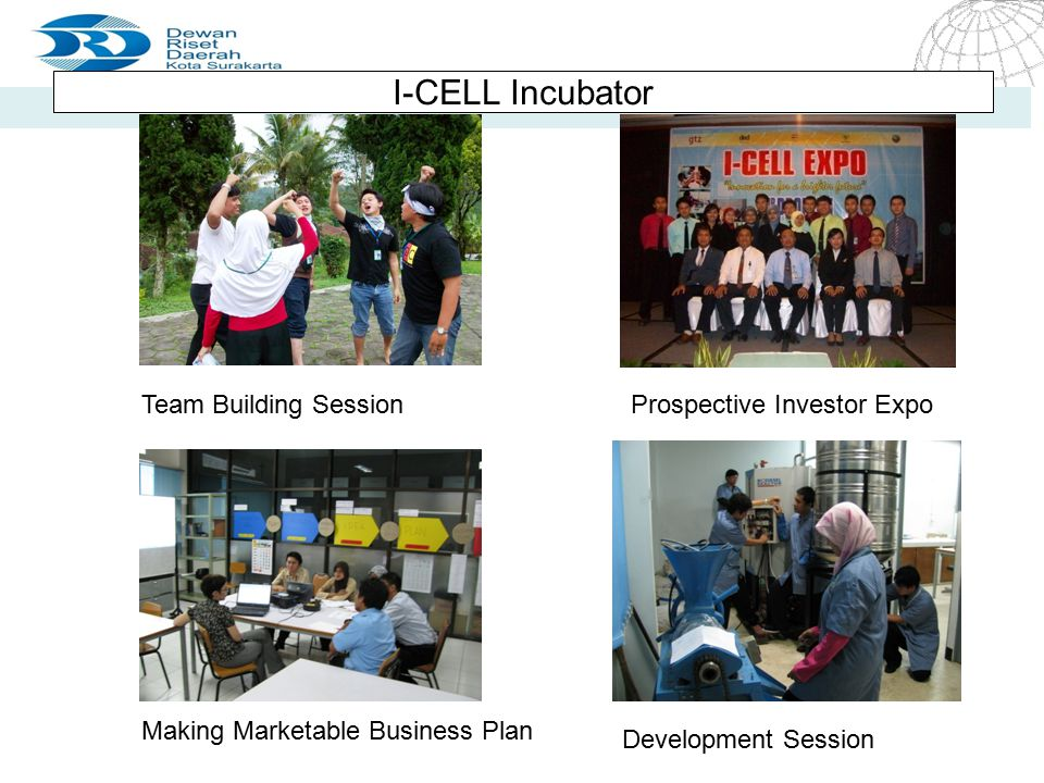 I-CELL Incubator Team Building Session Prospective Investor Expo
