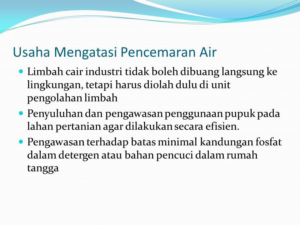 Usaha Mengatasi Pencemaran Air