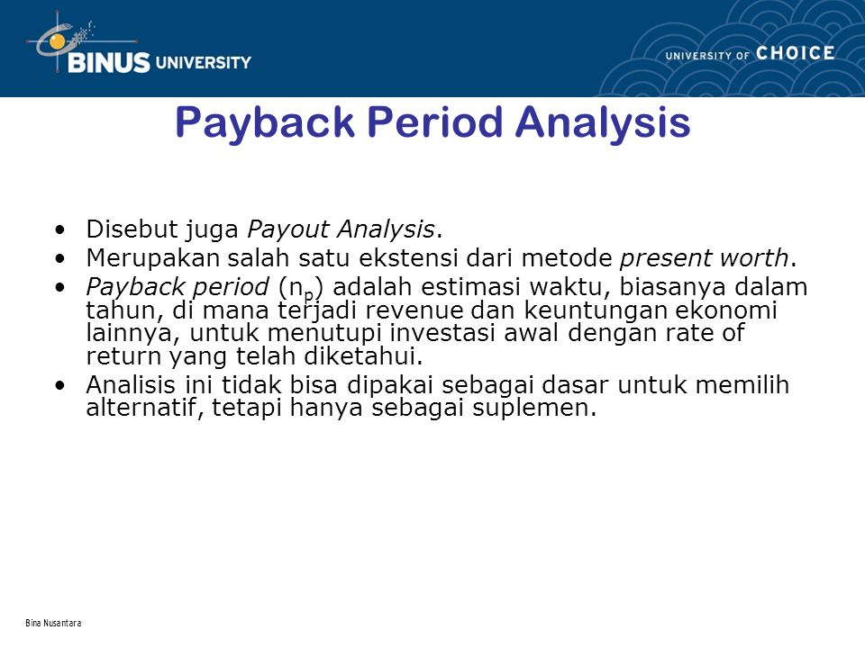 Payback Period Analysis