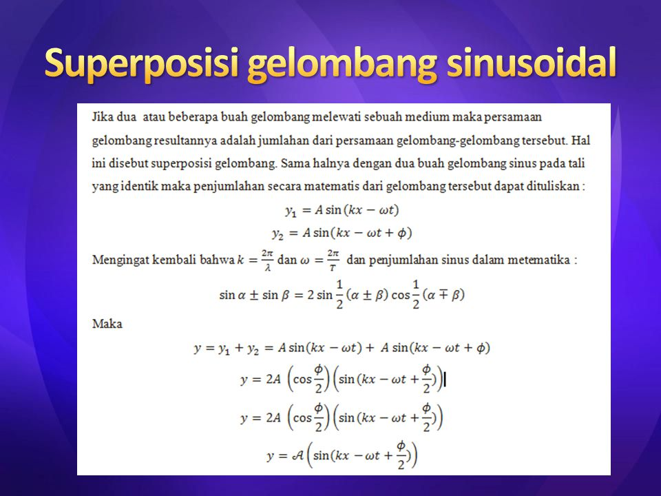 Superposisi gelombang sinusoidal