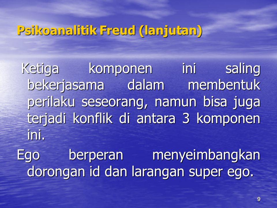 Psikoanalitik Freud (lanjutan)