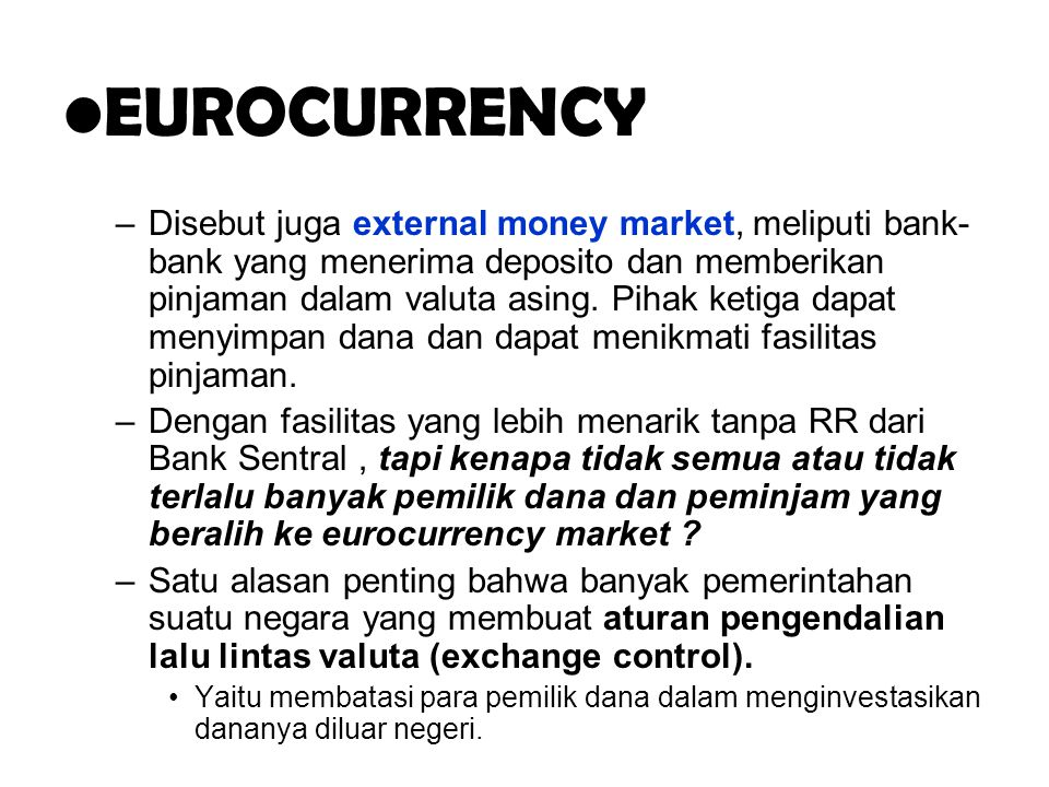 .. EUROCURRENCY.