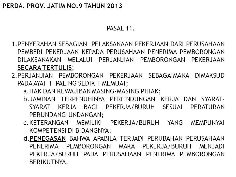 PERDA. PROV. JATIM NO.9 TAHUN 2013