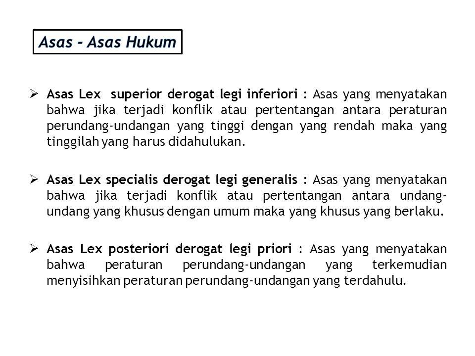Asas - Asas Hukum