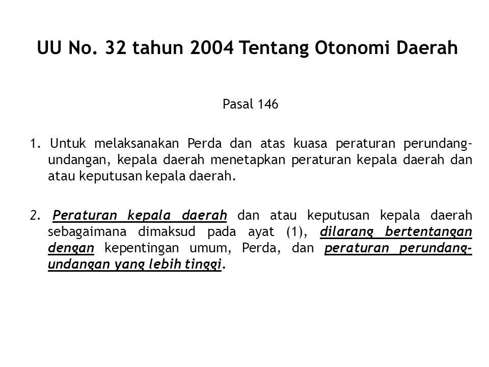 UU No. 32 tahun 2004 Tentang Otonomi Daerah