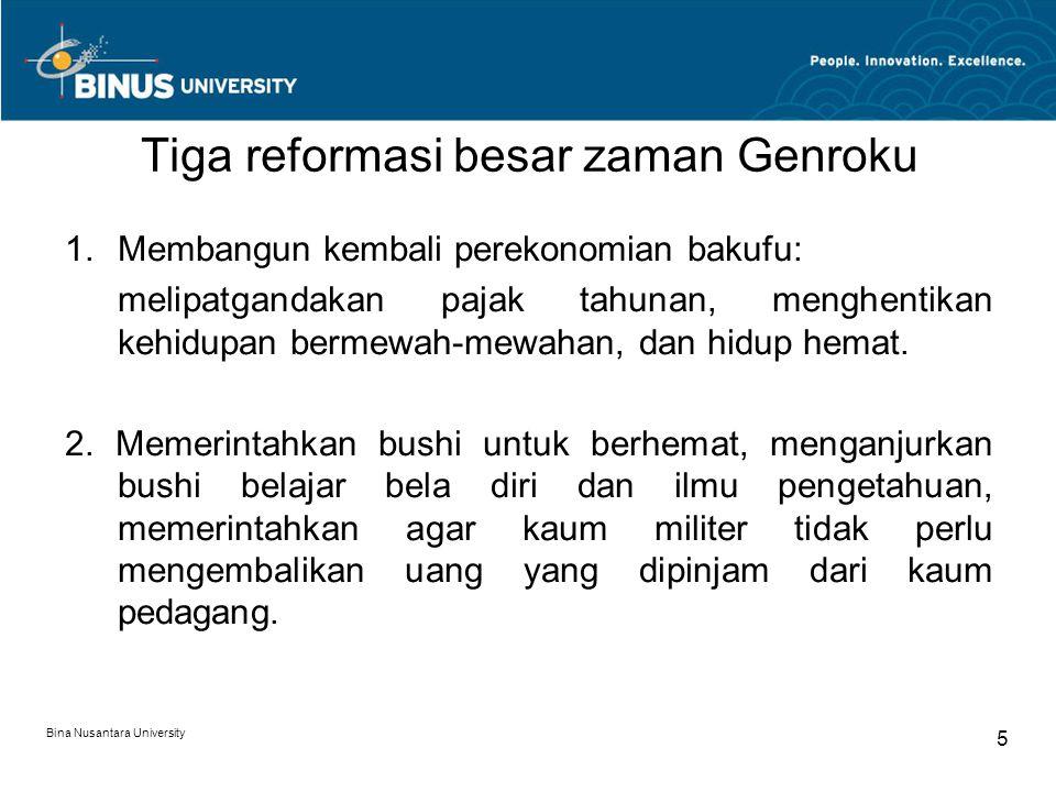 Tiga reformasi besar zaman Genroku
