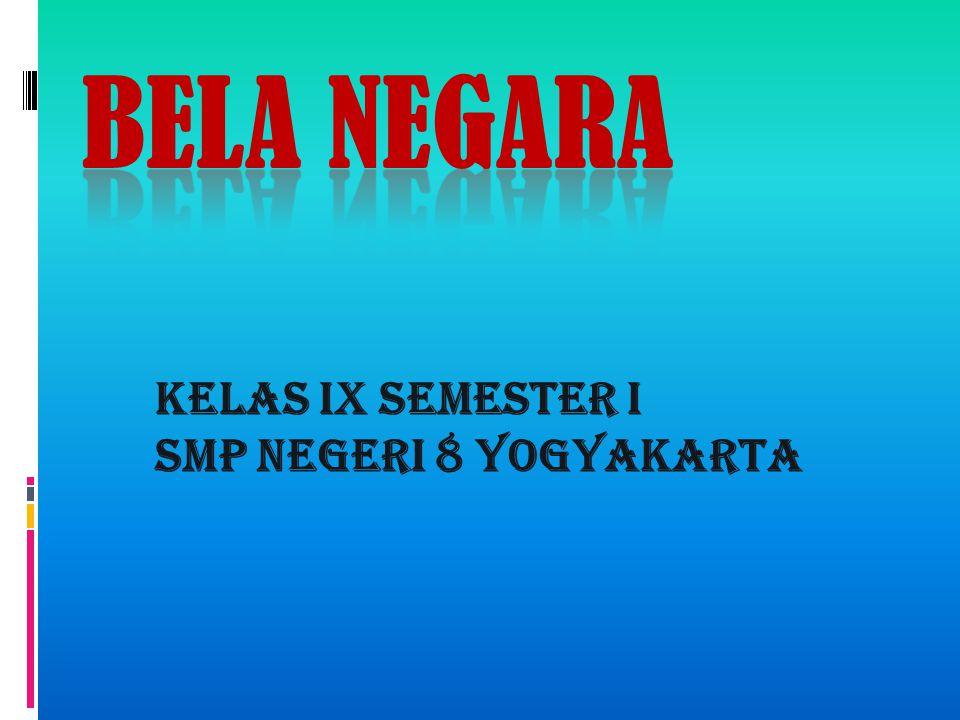 KELAS IX SEMESTER I SMP NEGERI 8 YOGYAKARTA
