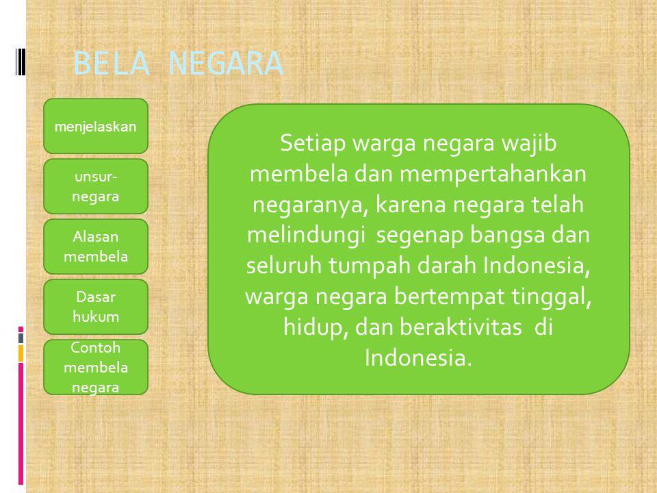 BELA NEGARA menjelaskan.