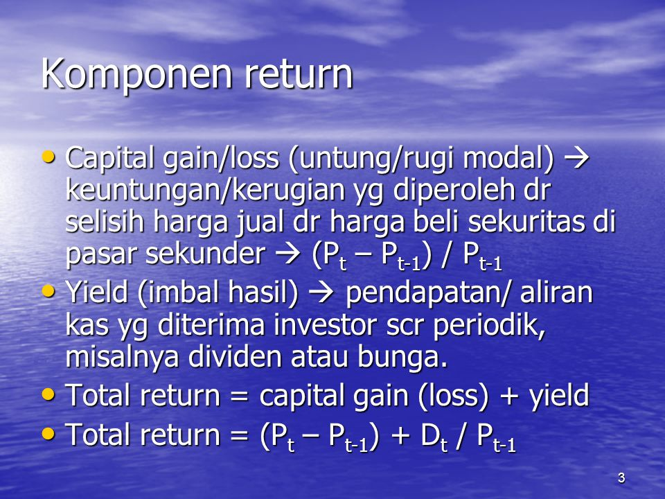 Komponen return
