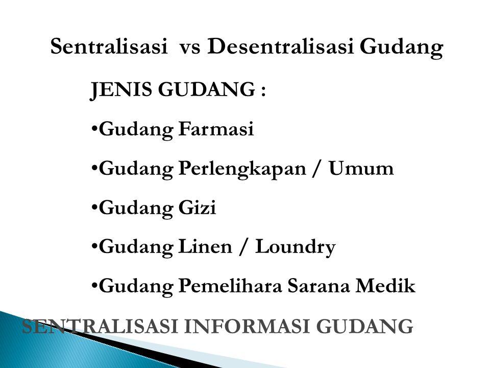 Sentralisasi vs Desentralisasi Gudang