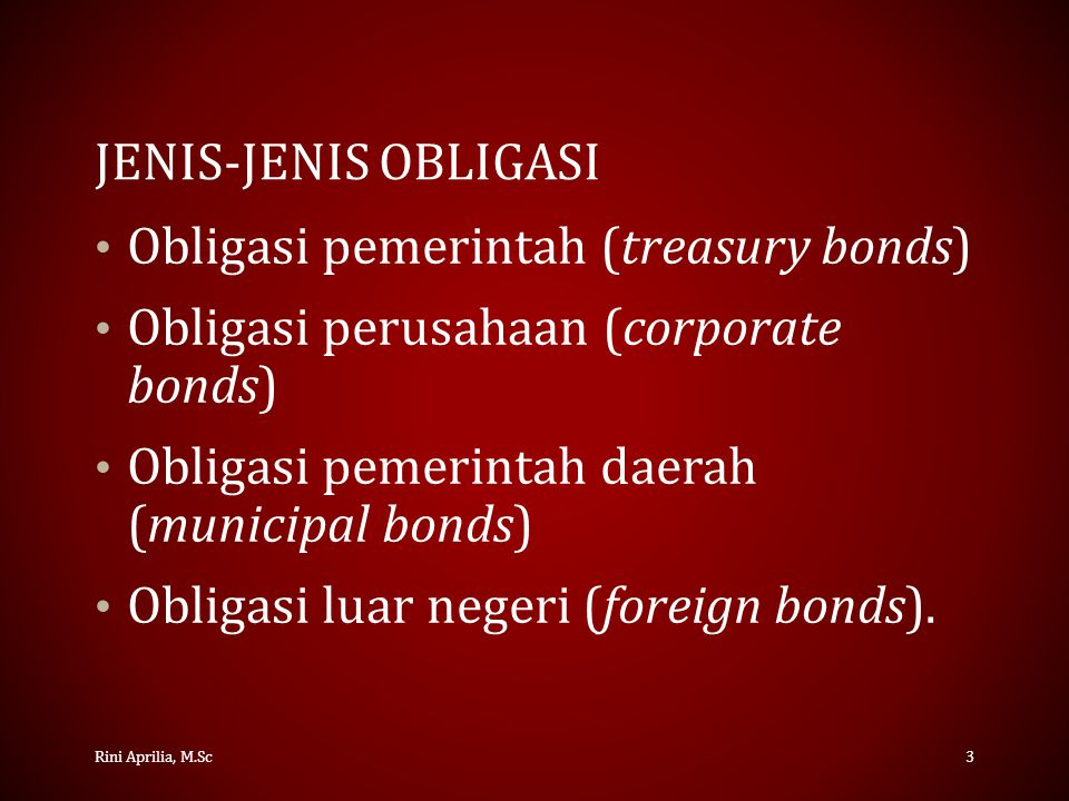 Obligasi pemerintah (treasury bonds)