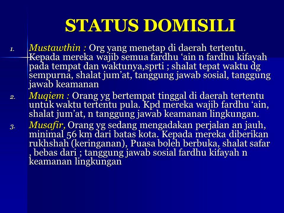 STATUS DOMISILI