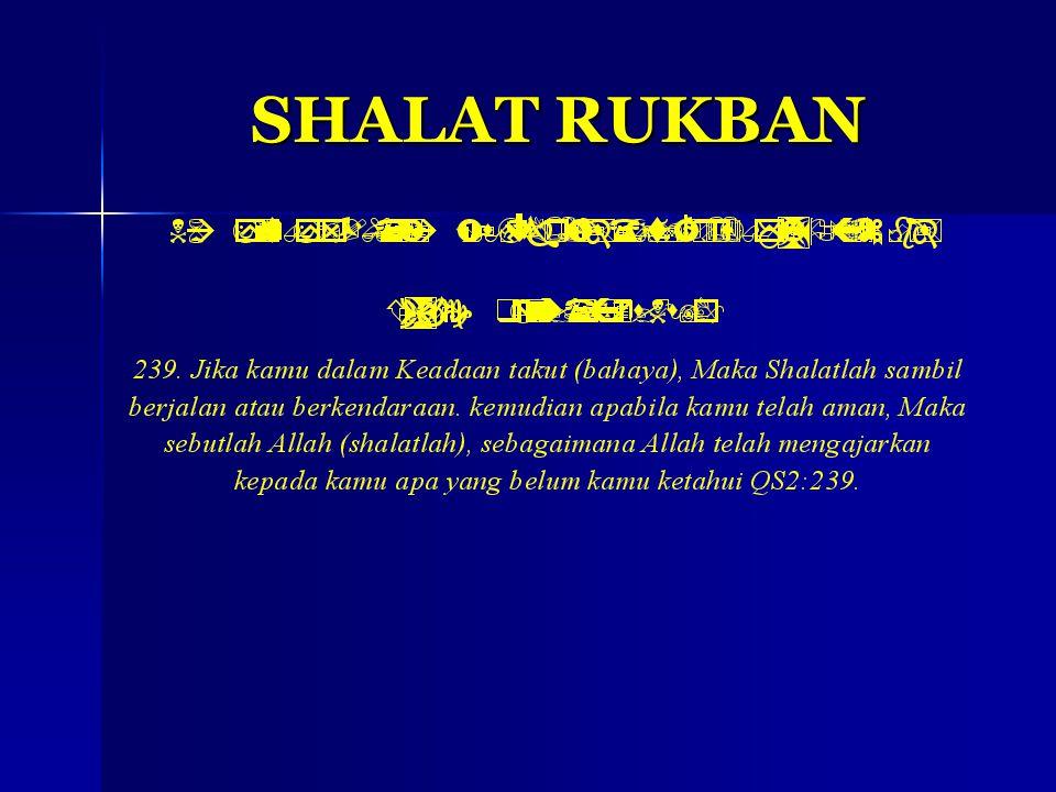 SHALAT RUKBAN