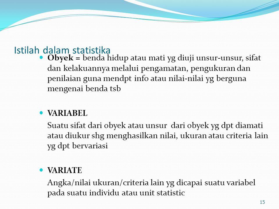 Istilah dalam statistika