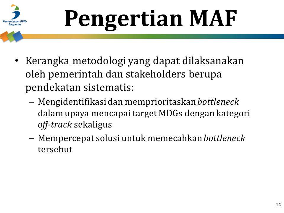 Pengertian MAF Kerangka metodologi yang dapat dilaksanakan oleh pemerintah dan stakeholders berupa pendekatan sistematis: