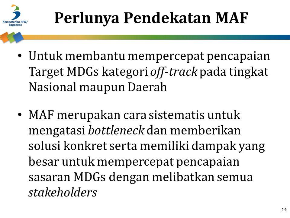 Perlunya Pendekatan MAF