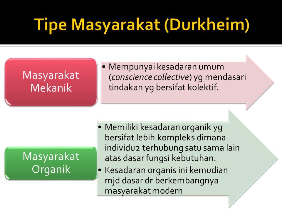 Tipe Masyarakat (Durkheim)