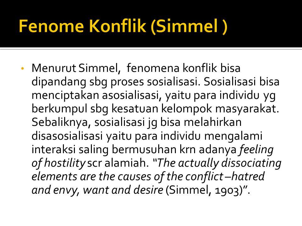 Fenome Konflik (Simmel )