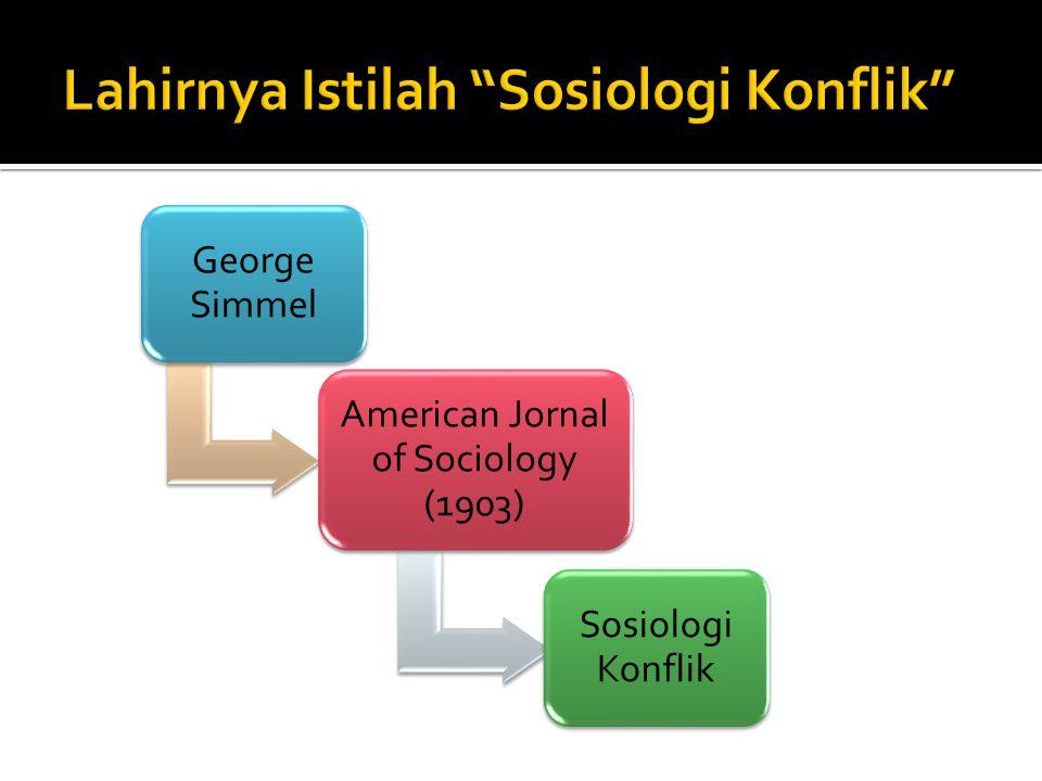 Lahirnya Istilah Sosiologi Konflik