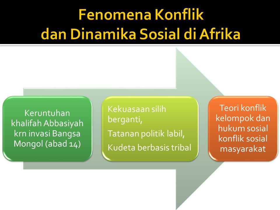 Fenomena Konflik dan Dinamika Sosial di Afrika