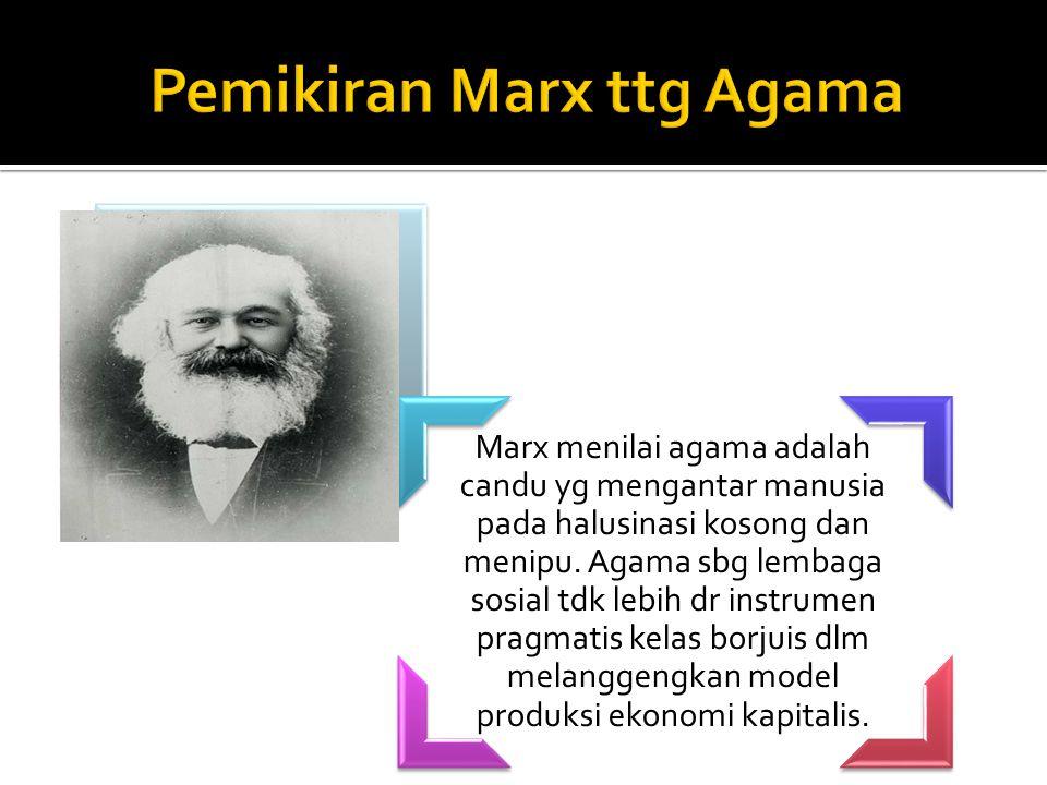 Pemikiran Marx ttg Agama
