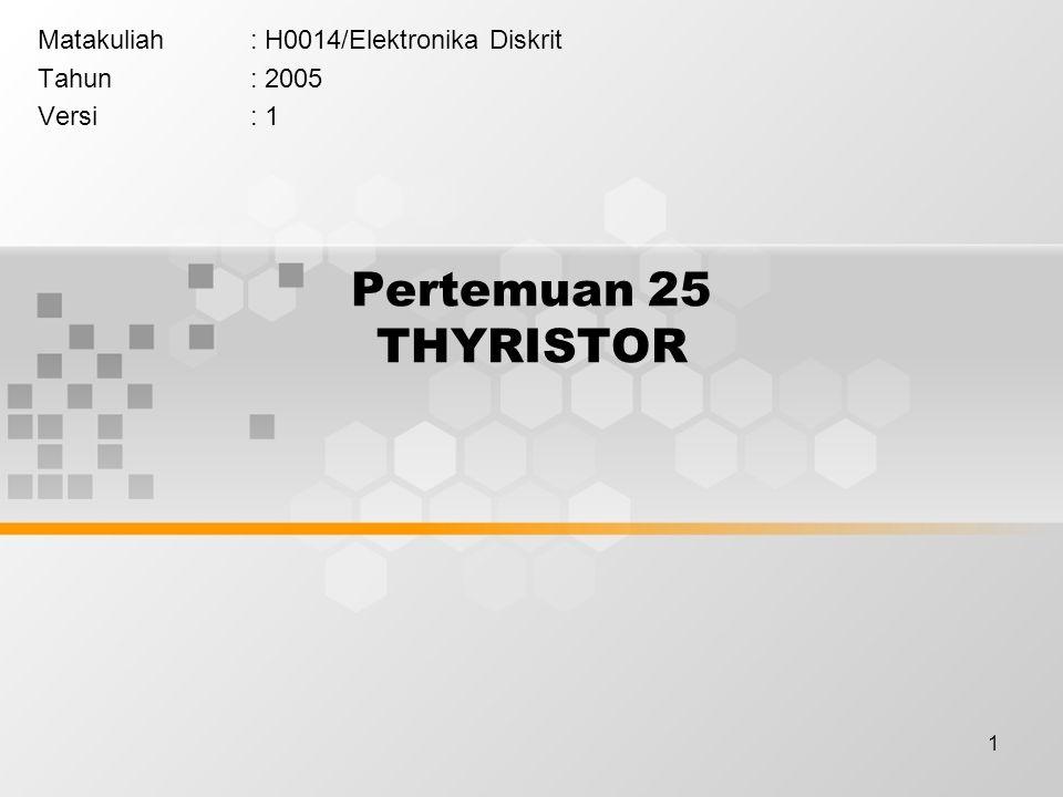 Matakuliah : H0014/Elektronika Diskrit Tahun : 2005 Versi : 1
