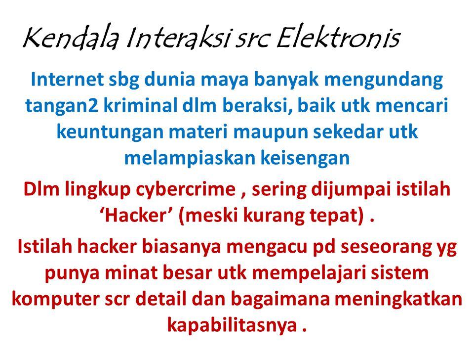 Kendala Interaksi src Elektronis