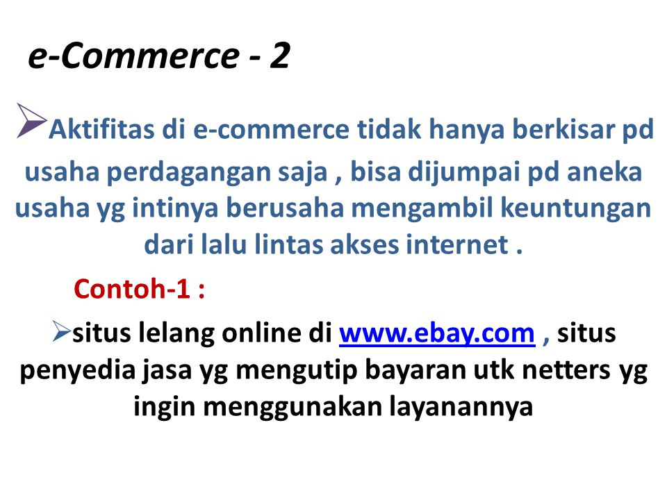 e-Commerce - 2