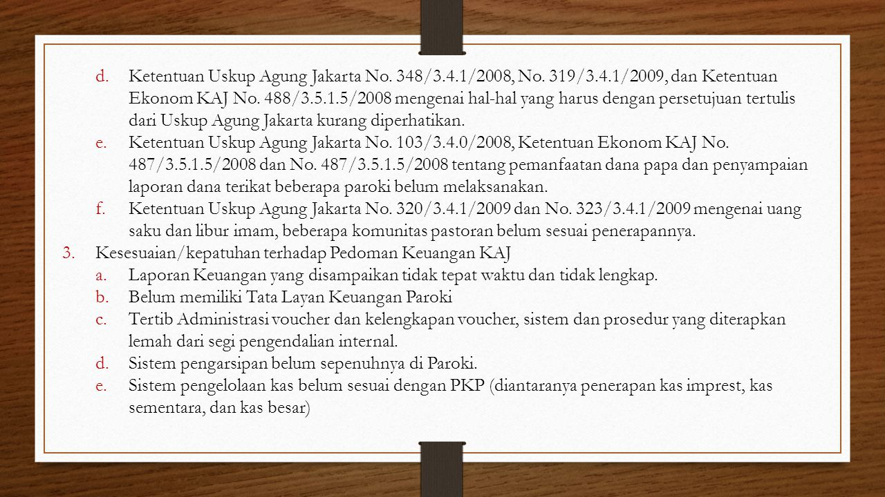 Ketentuan Uskup Agung Jakarta No. 348/3. 4. 1/2008, No. 319/3. 4