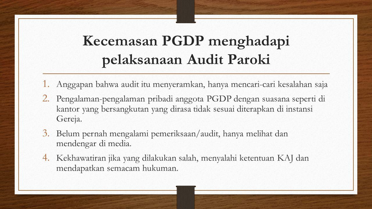 Kecemasan PGDP menghadapi pelaksanaan Audit Paroki