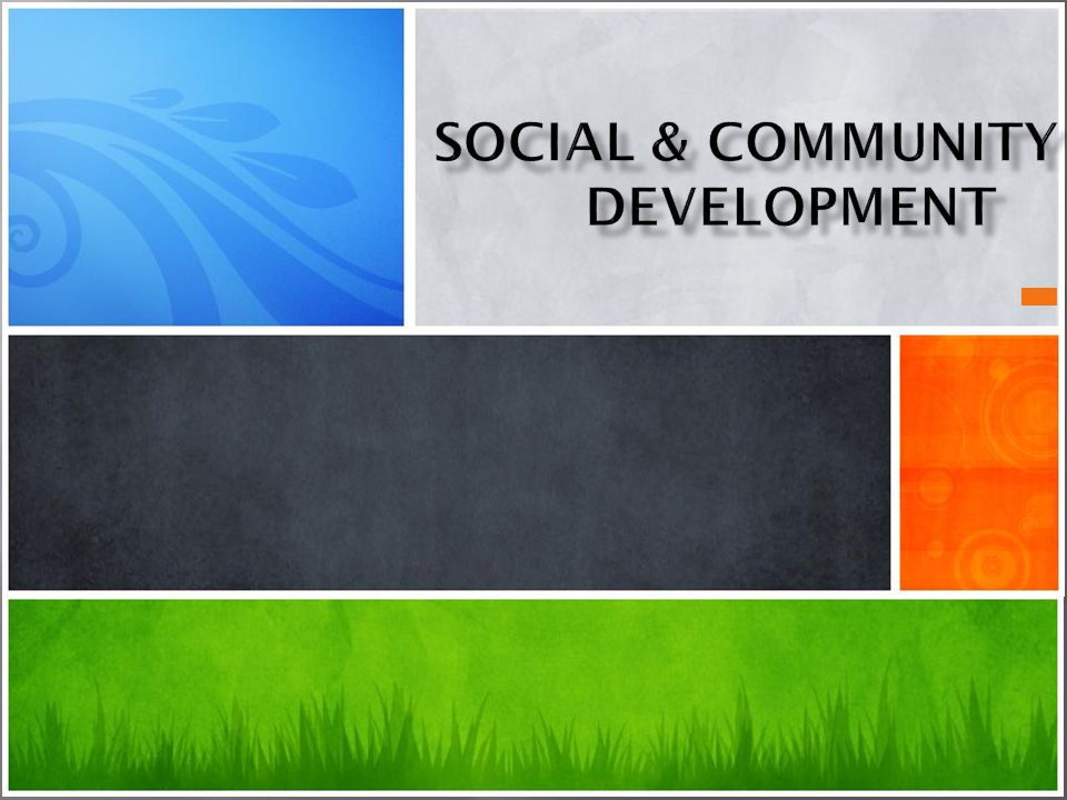 Social & Community Development