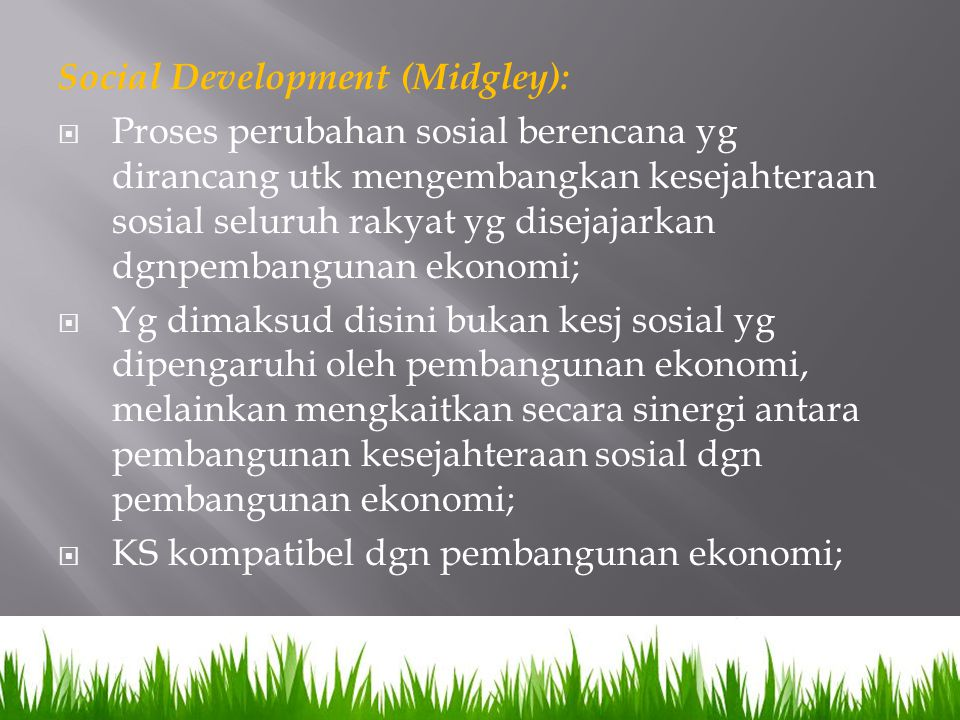 Social Development (Midgley):