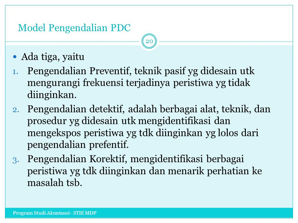 Model Pengendalian PDC