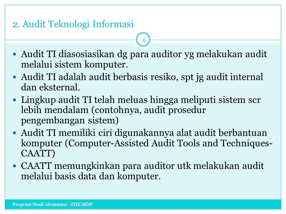 2. Audit Teknologi Informasi