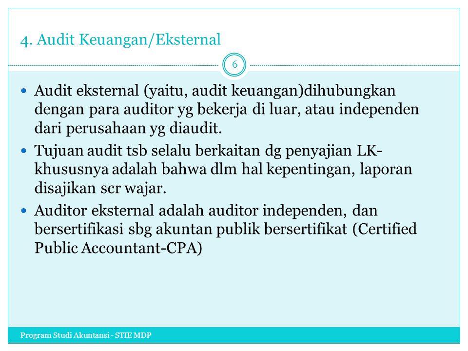 4. Audit Keuangan/Eksternal