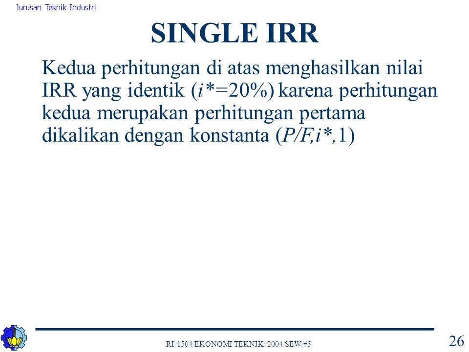 SINGLE IRR