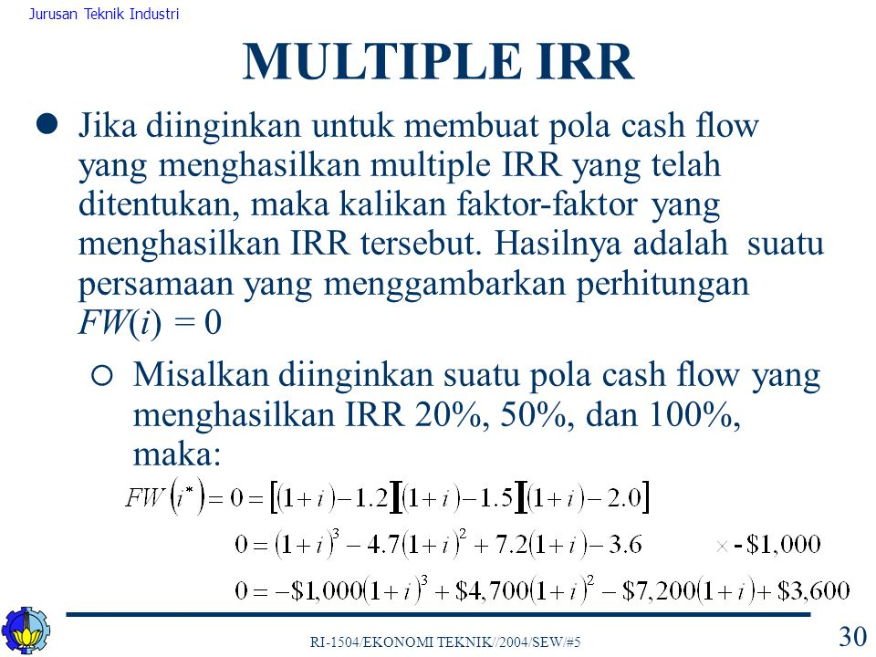 MULTIPLE IRR