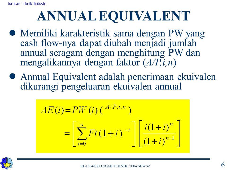 ANNUAL EQUIVALENT