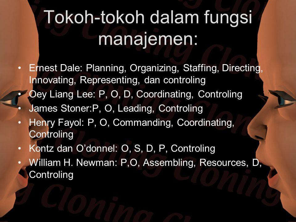 Tokoh-tokoh dalam fungsi manajemen: