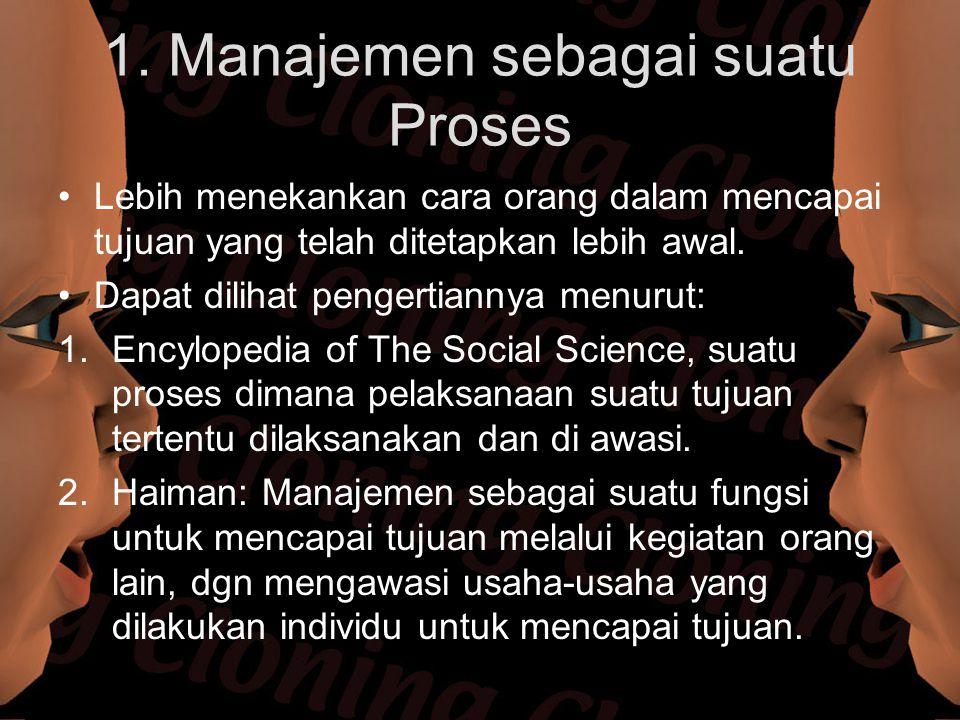 1. Manajemen sebagai suatu Proses